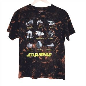 Star Wars custom bleached upcycled destroyed tee